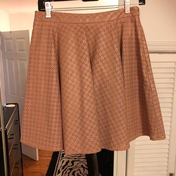 Anthropologie Dresses & Skirts - Anthropologie Vegan Leather Skirt sz 8 muted Pink